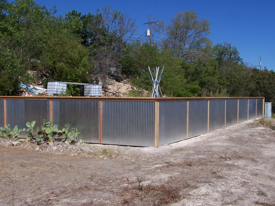 Corrugated Metal Fence Install