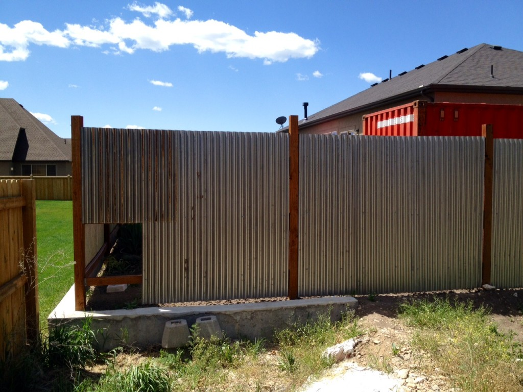 Image of: Corrugated Metal Fence Update