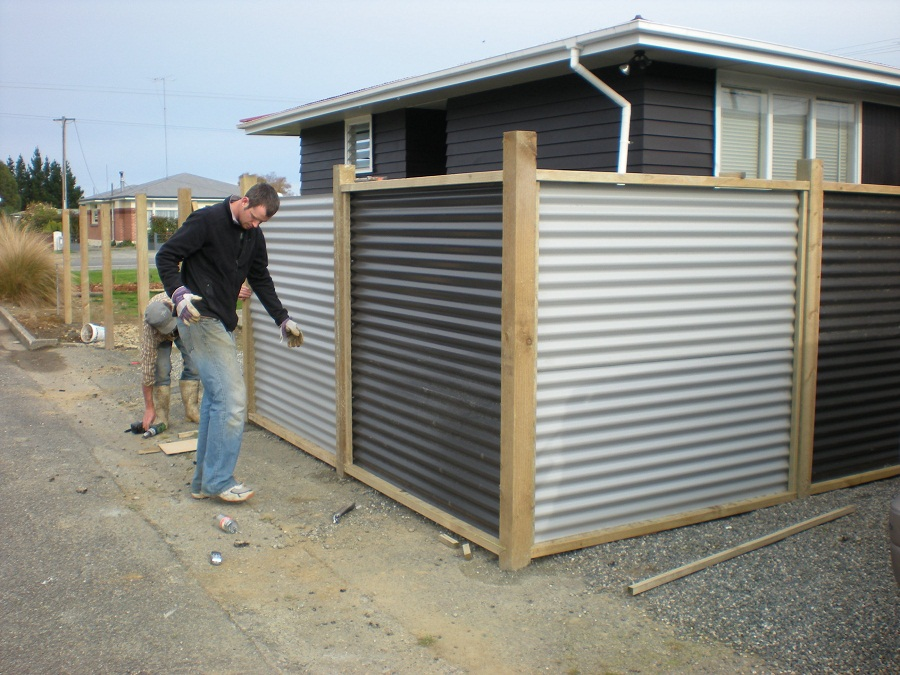 Image of: Corrugated Metal Fence