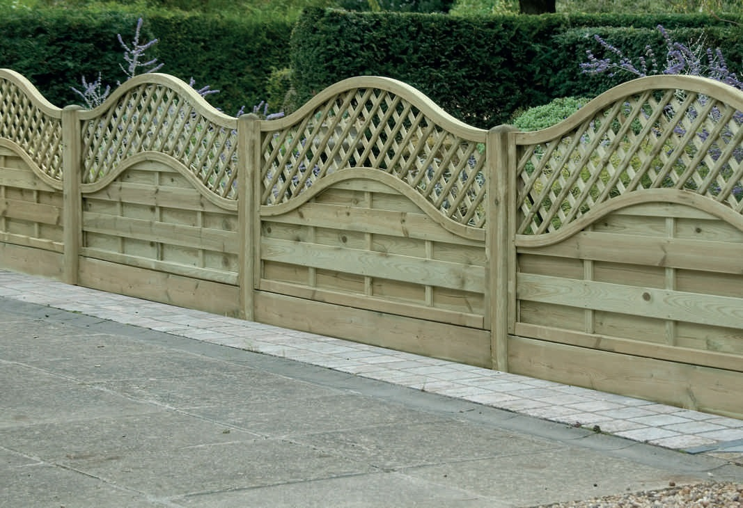 Image of: Custom Lattice Fence Panels