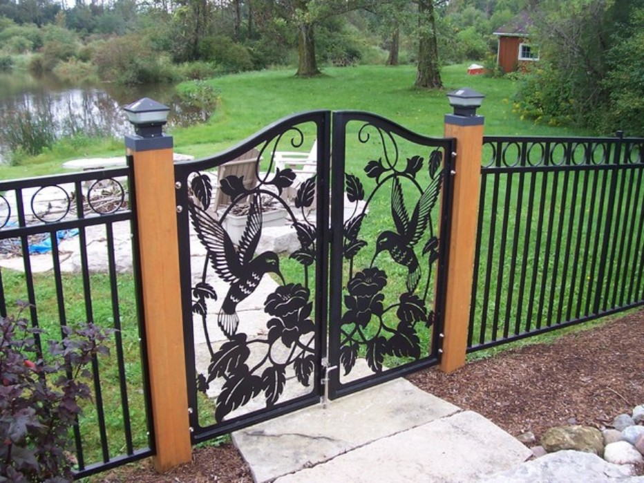 Image of: Cute Metal Fence Panels