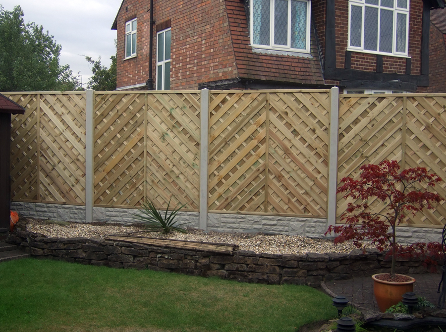 Image of: Decorative Fencing Backyard