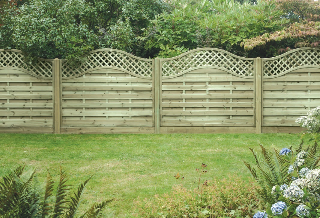 Image of: Decorative Lattice Fence Panels