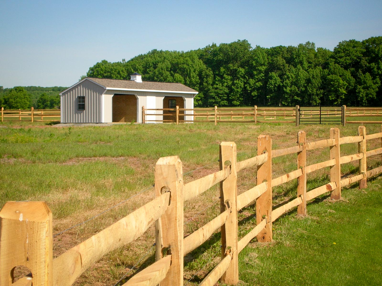 Image of: Design Horse Fencing
