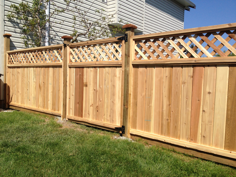 Image of: Diamond Lattice Fence Panels