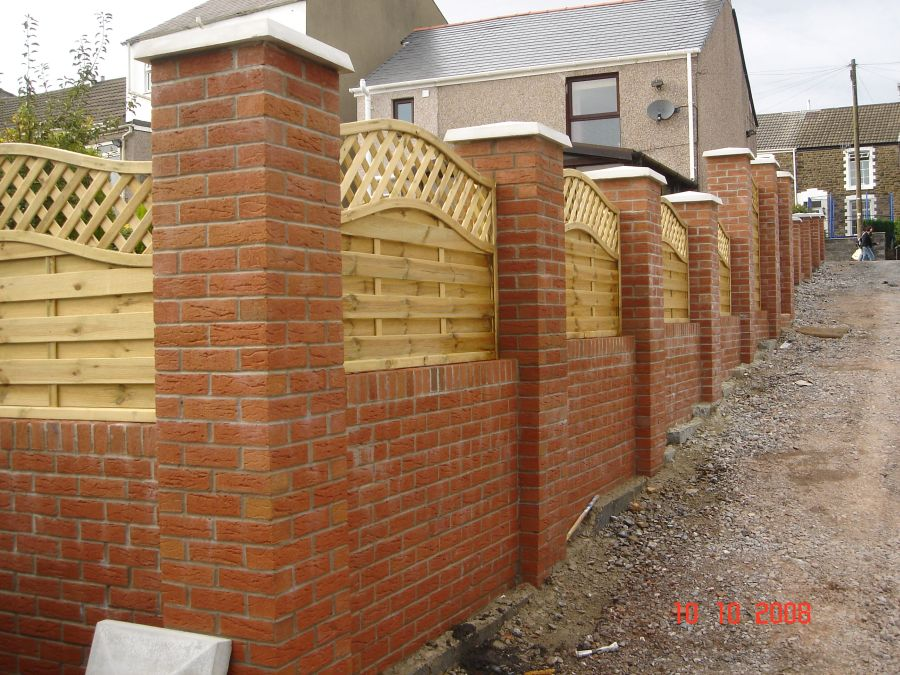 Image of: Diy Brick Fence