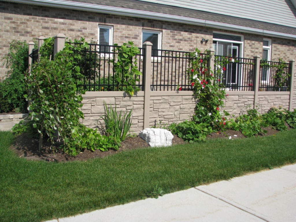 Image of: Ecostone Fence Colors
