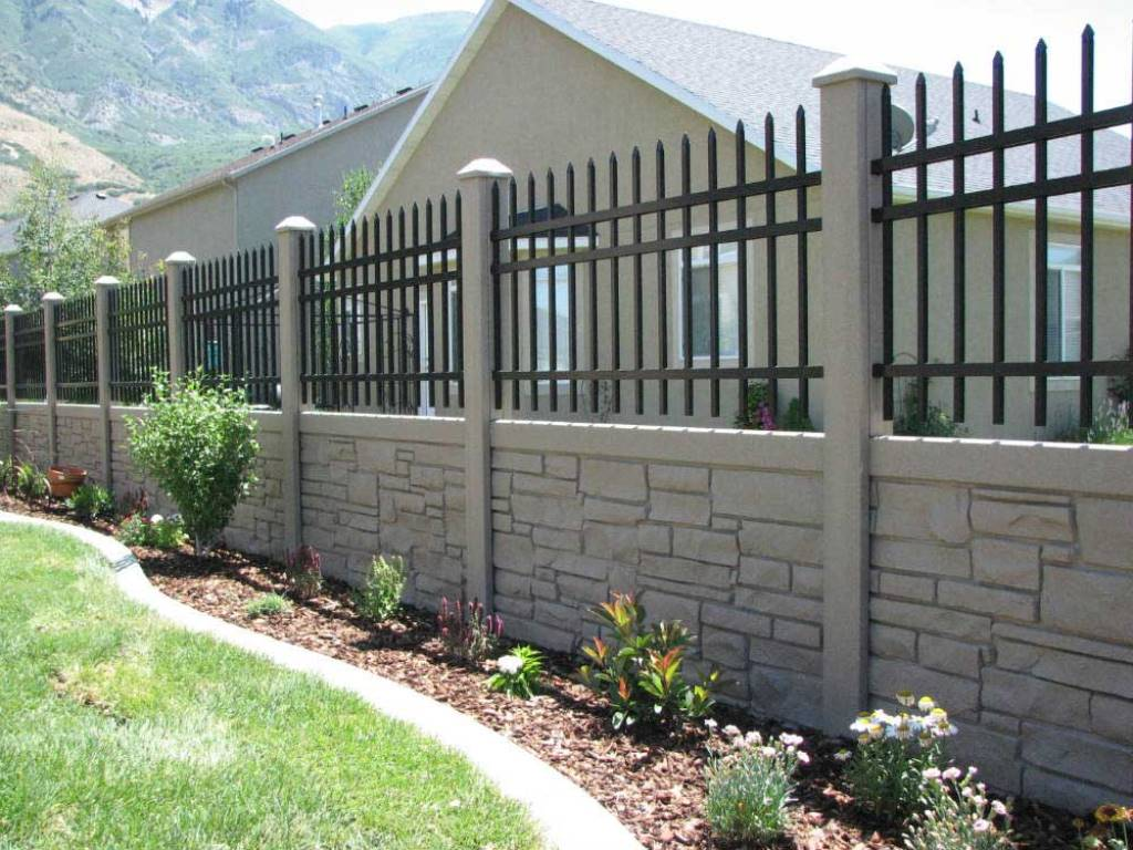 Image of: Ecostone Fence Cost