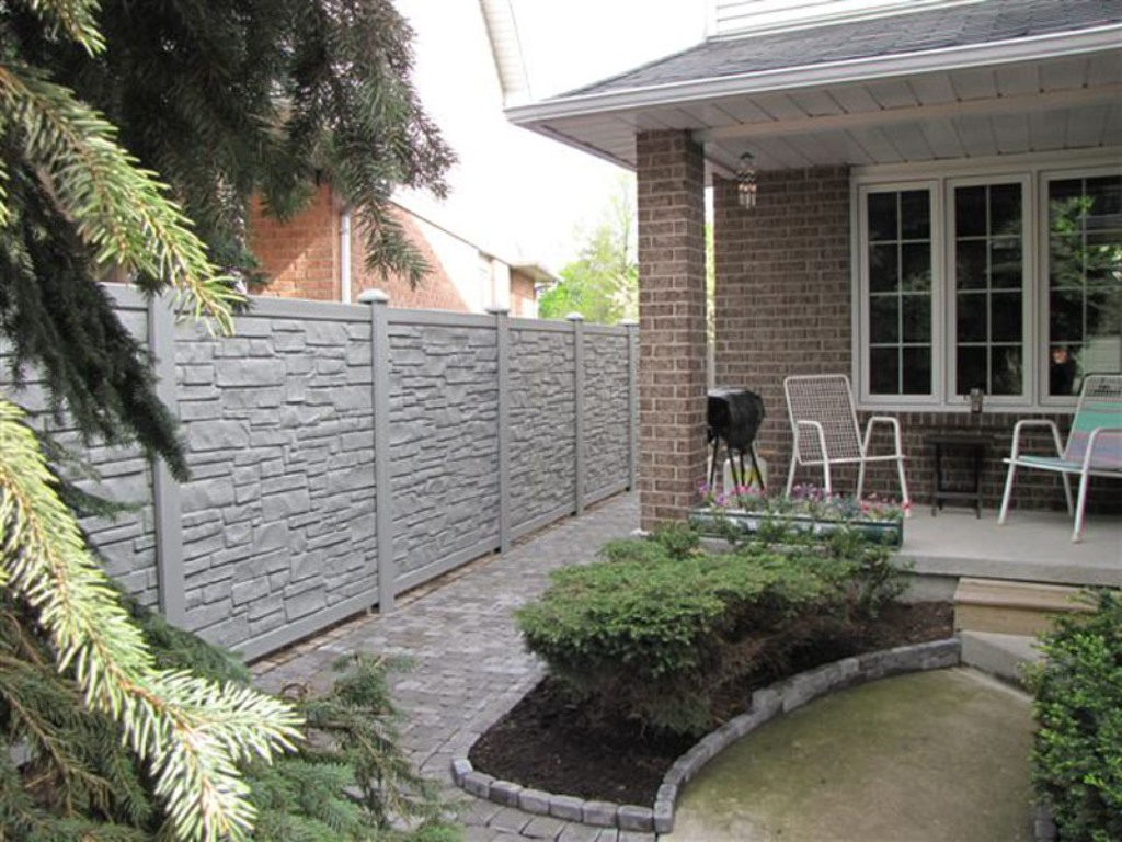 Image of: Ecostone Fence Pricing