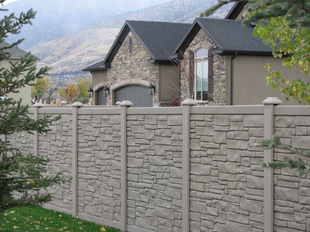Image of: Ecostone Fence Sale