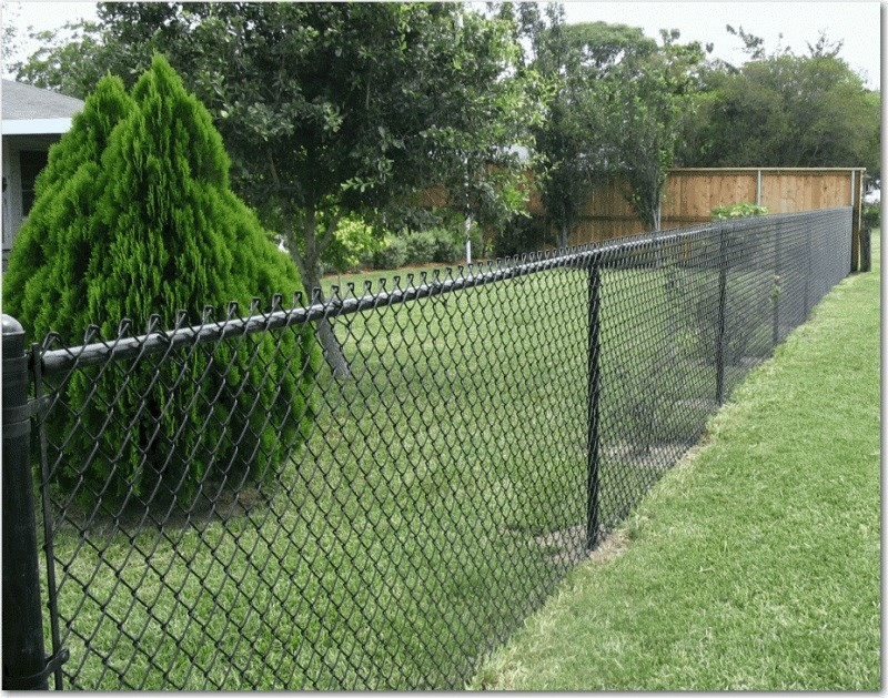 Image of: Exterior Chain Link Fencing Home