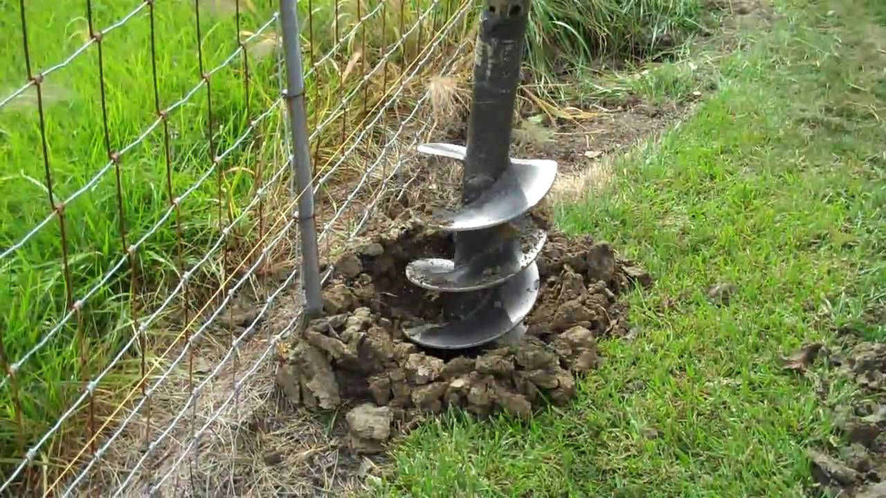 Image of: Fence Post Hole