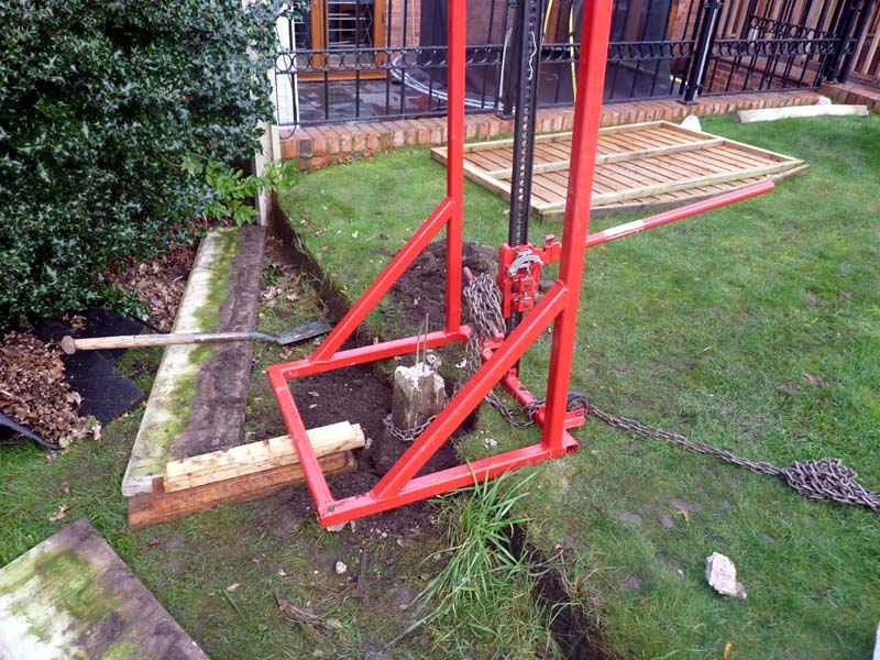 Image of: Fence Post Puller Service