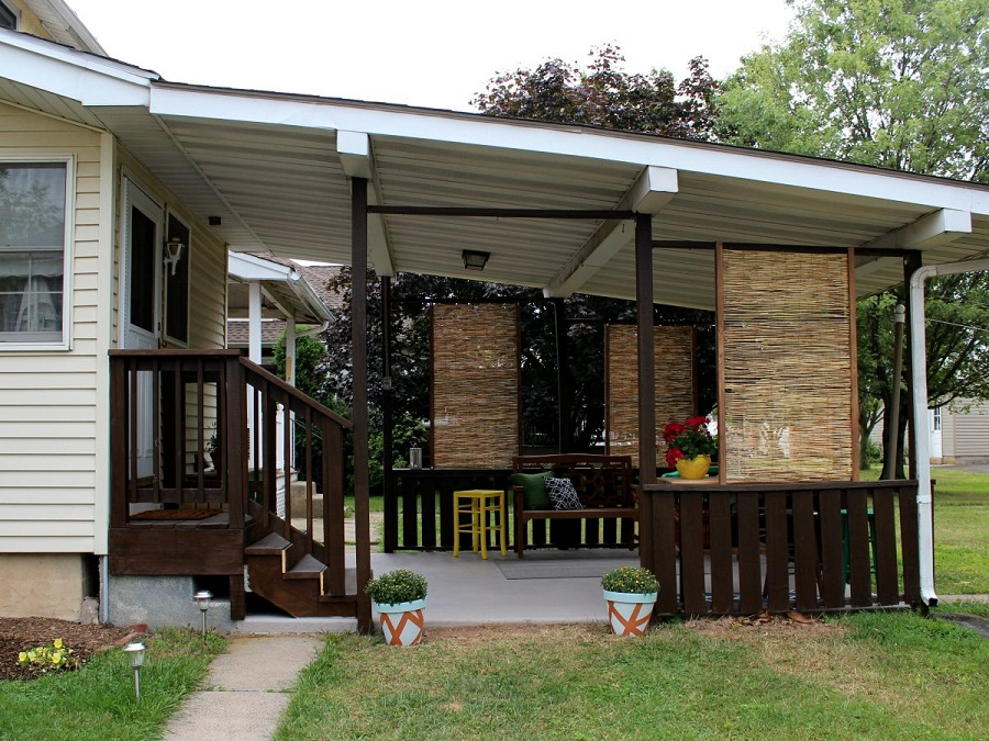 Image of: Fence Privacy Screen Patio