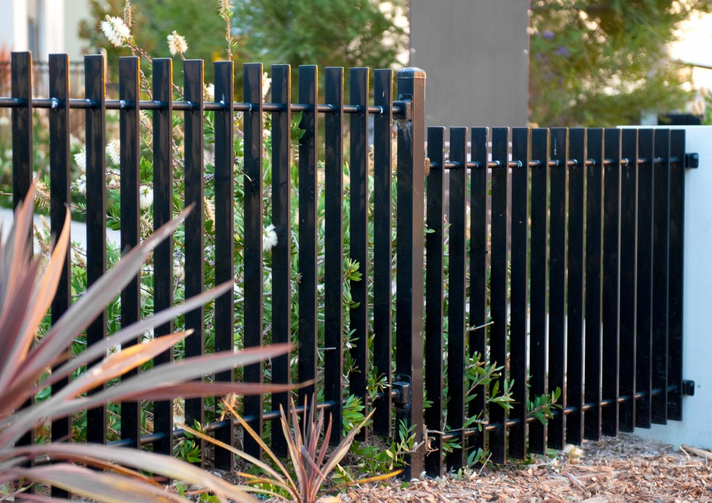 Image of: Fence Slats Black Designs Ideas