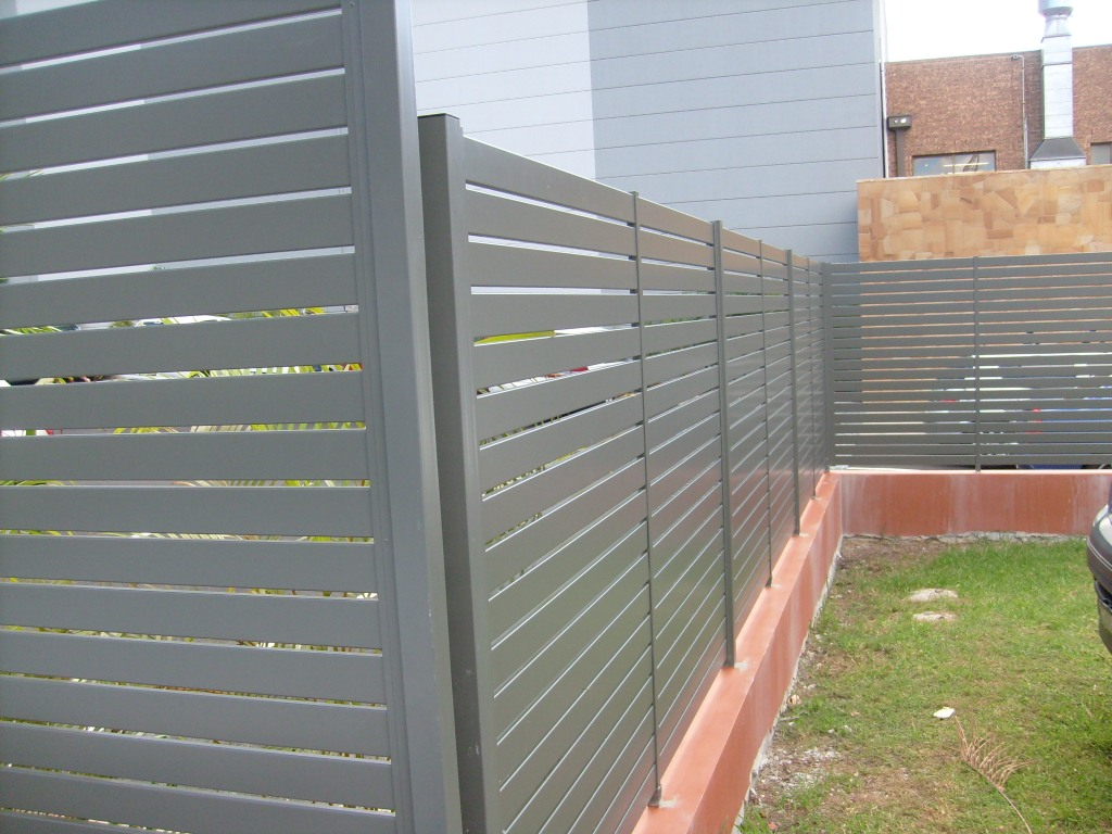 Image of: Fence Slats Metal