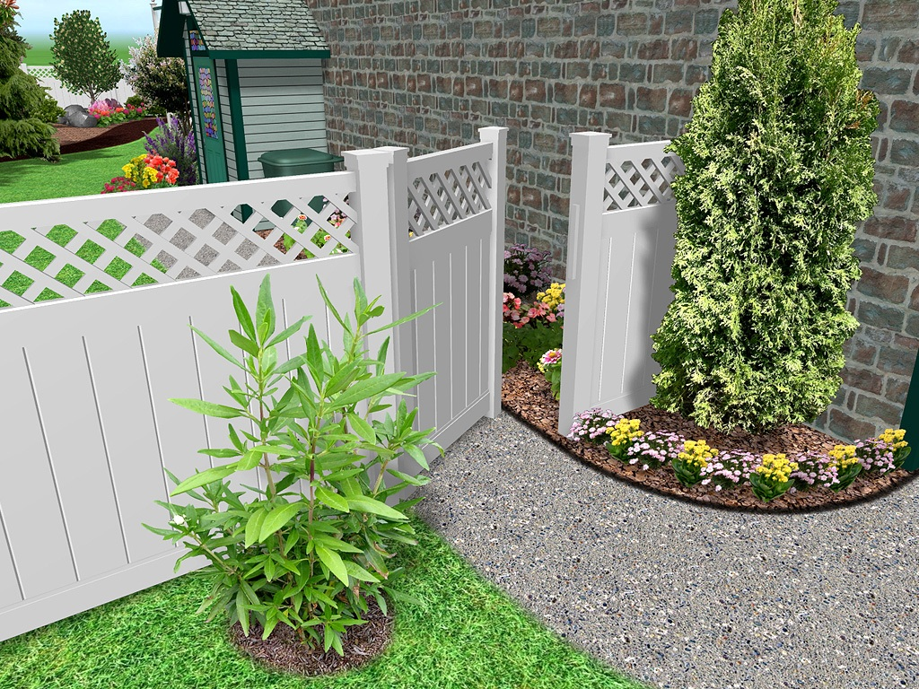 Image of: Front Yard Fence Privacy
