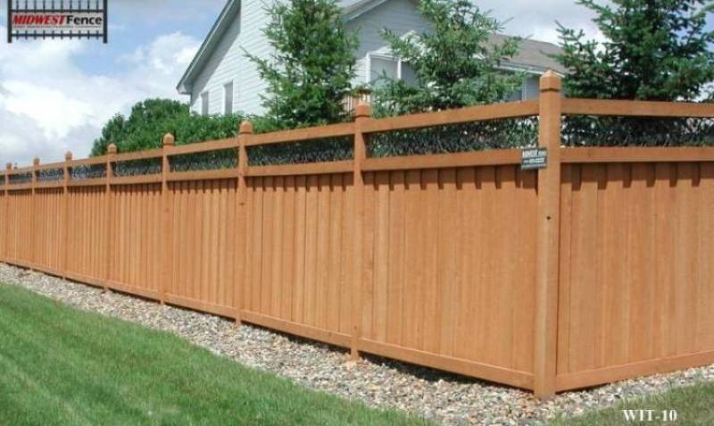 Image of: Full Composite Fence