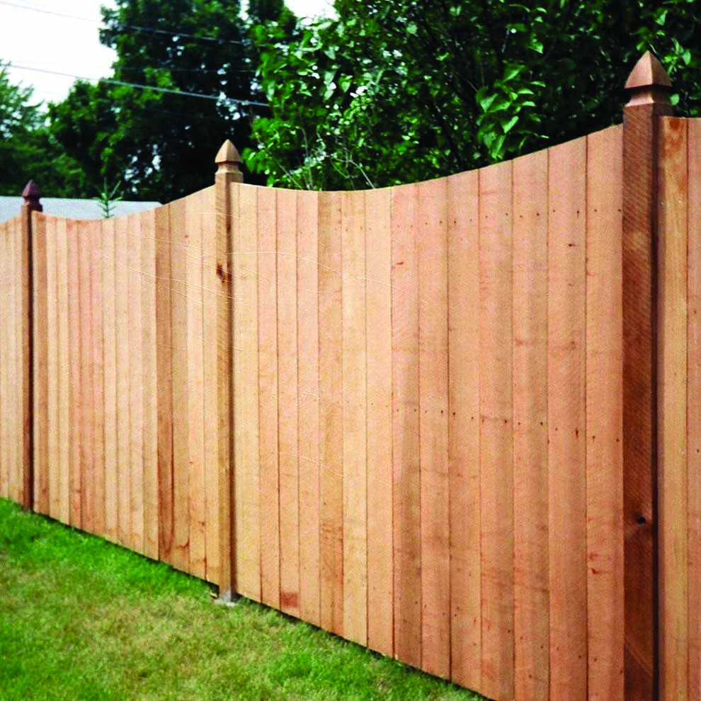 Image of: Fun Cedar Fencing