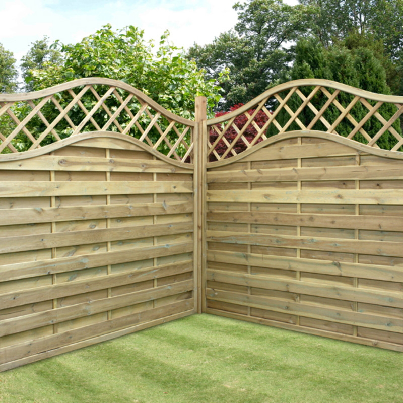 Image of: Garden Fence Panels Corner