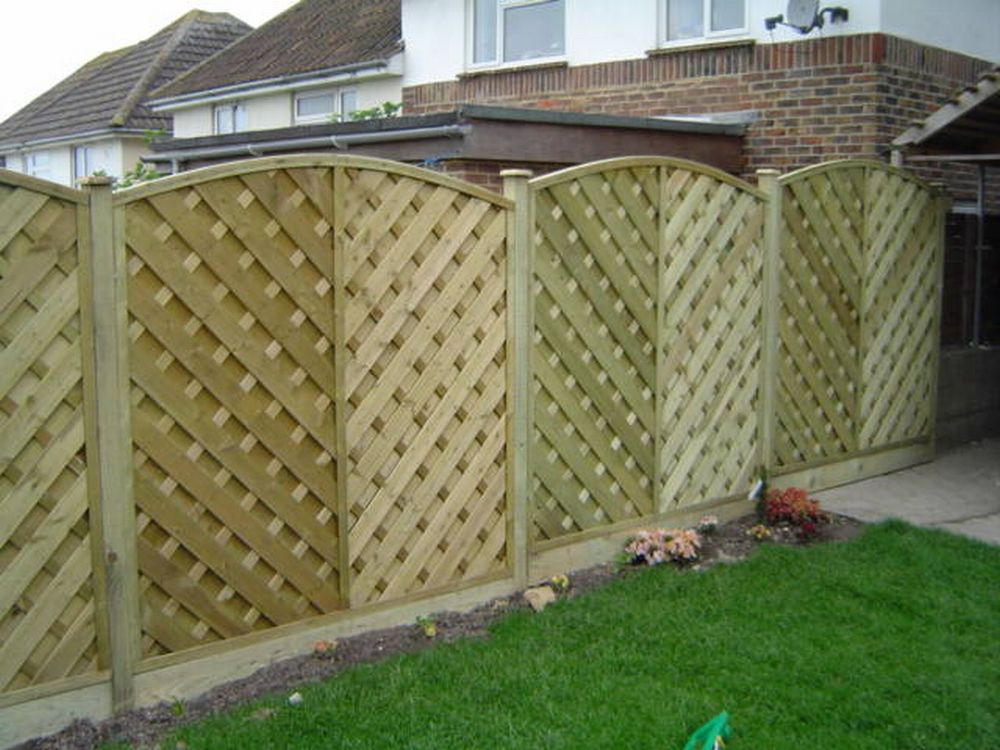 Image of: Garden Fence Panels Diy