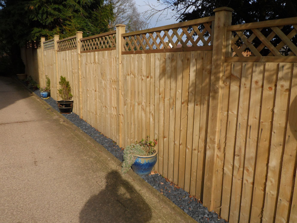 Image of: Garden Fence Panels Install