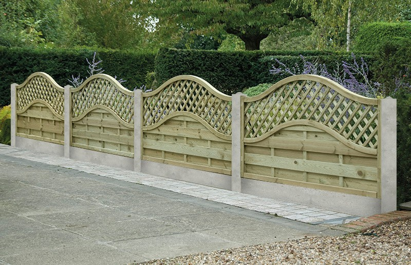 Image of: Garden Fence Panels Shapes