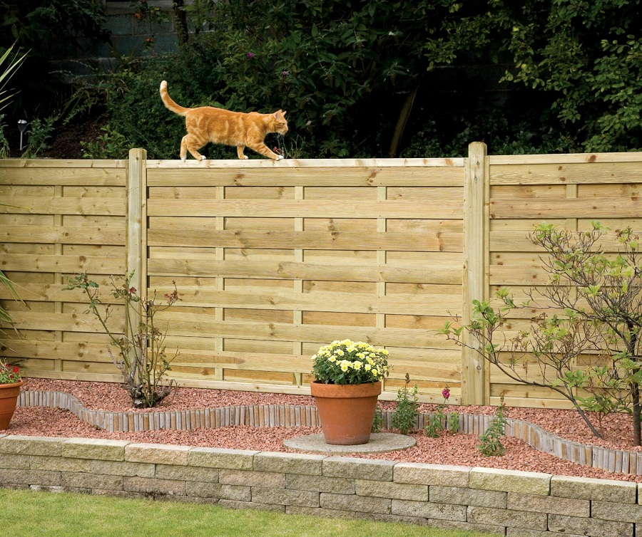 Image of: Garden Fence Panels Yard