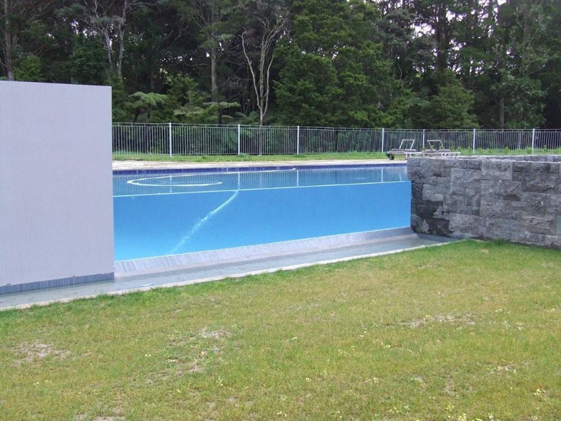 Image of: Garden Pool Fence
