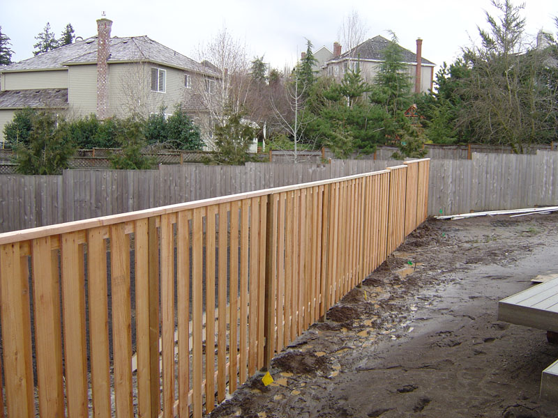 Image of: Good Neighbor Fence Style