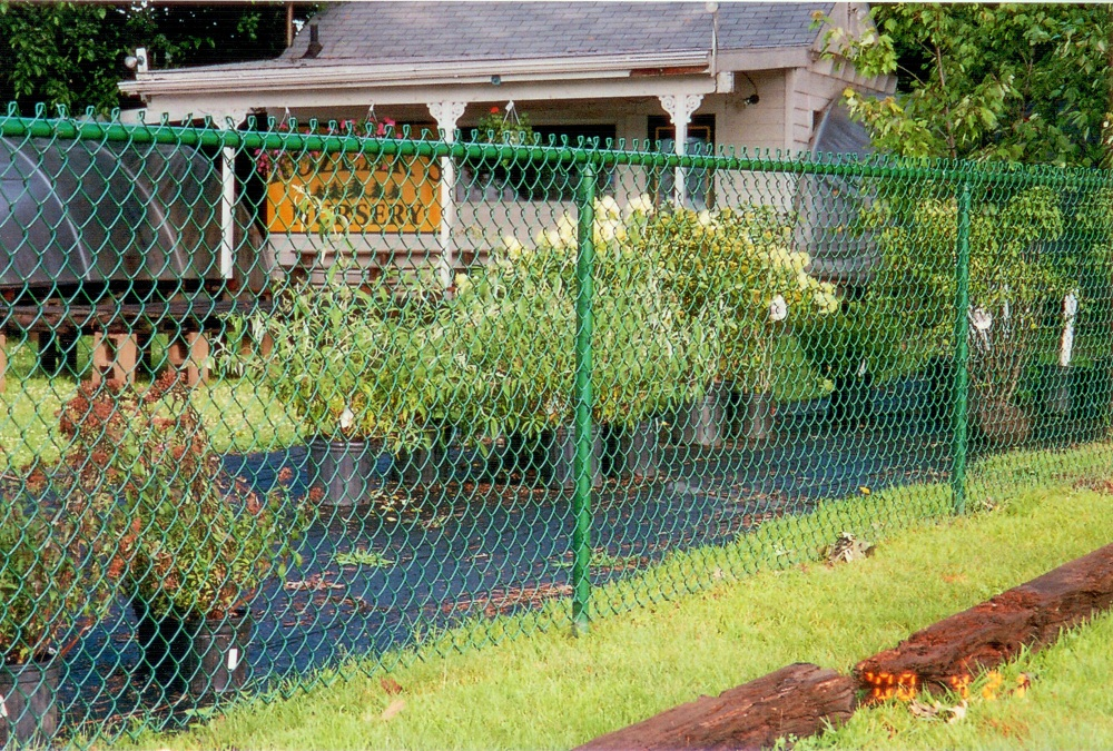 Green Cyclone Fence