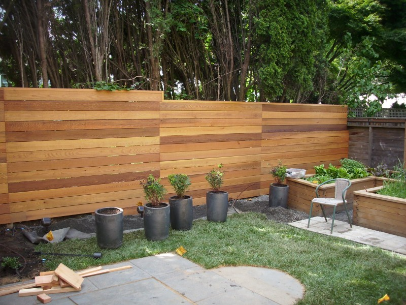 Image of: Horizontal Cedar Fencing