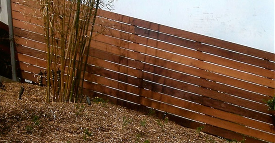 Horizontal Wood Fence Cedar