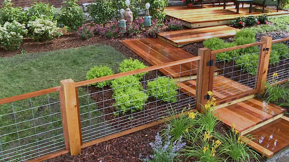 Image of: Install Cattle Fence Panels