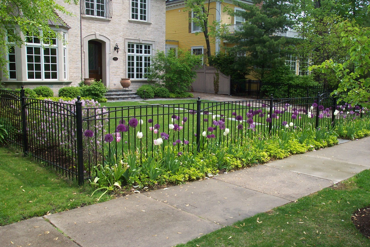 Image of: Iron Fence Designs