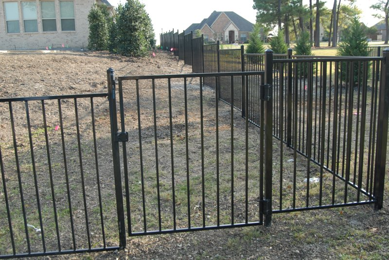 Image of: Iron Fence Panels Black