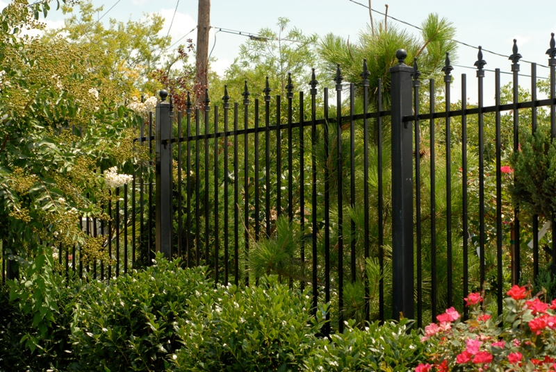 Image of: Iron Fence Panels Garden