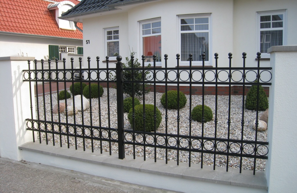 Image of: Iron Fence Panels Home