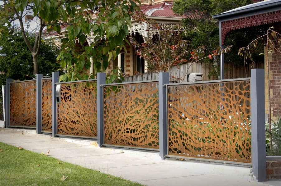 Image of: Iron Fence Panels Modern