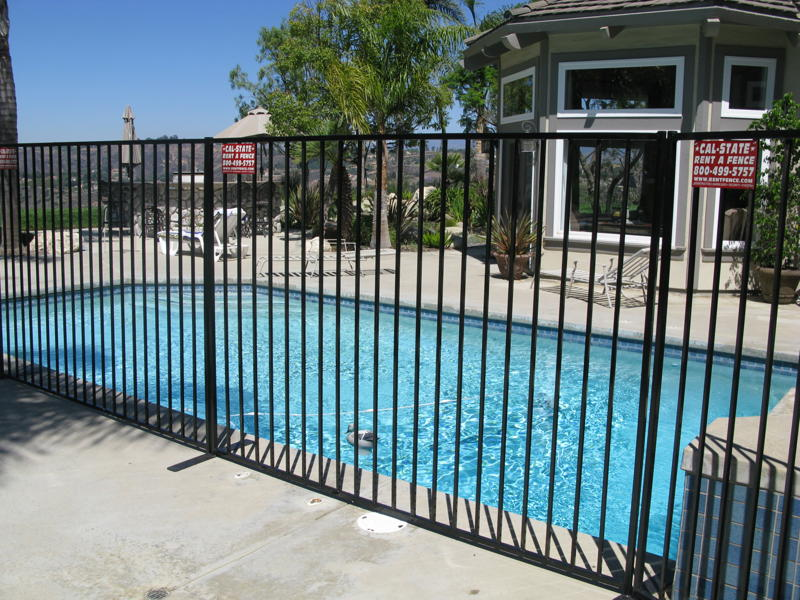 Image of: Iron Fence Panels Pool