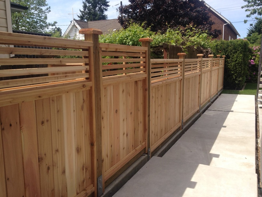 Image of: Large Cedar Fence Panels