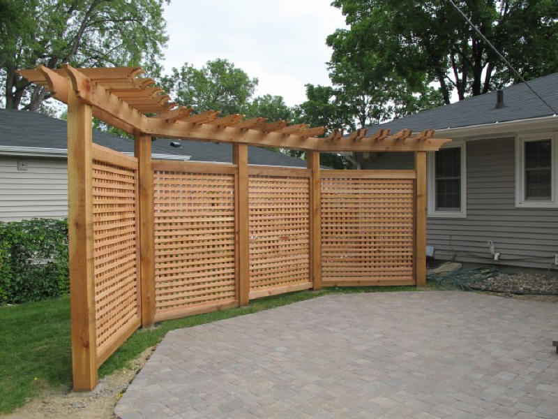 Image of: Lattice Fence Portable