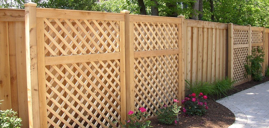 Image of: Lattice Fence Type