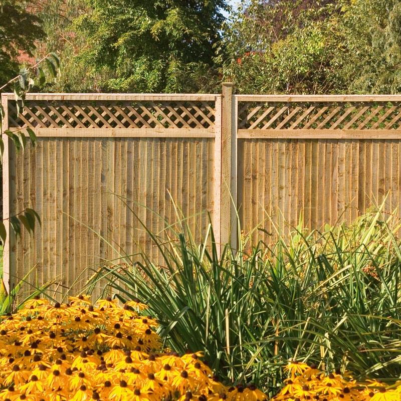 Image of: Lattice Panel Fence Designs