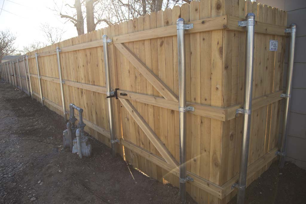 Image of: Metal Fence Posts Plan