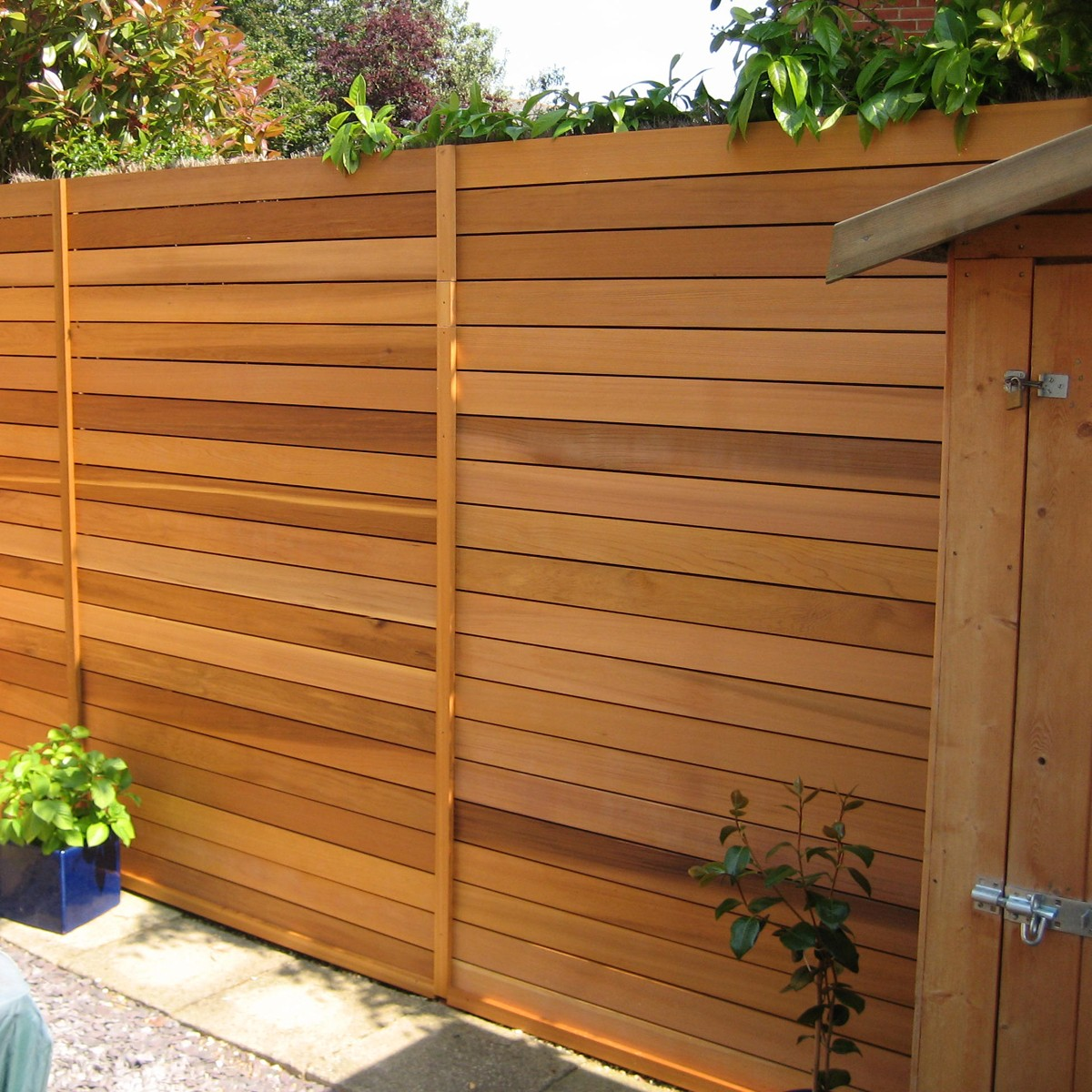 Image of: Modern Cedar Fence Panels