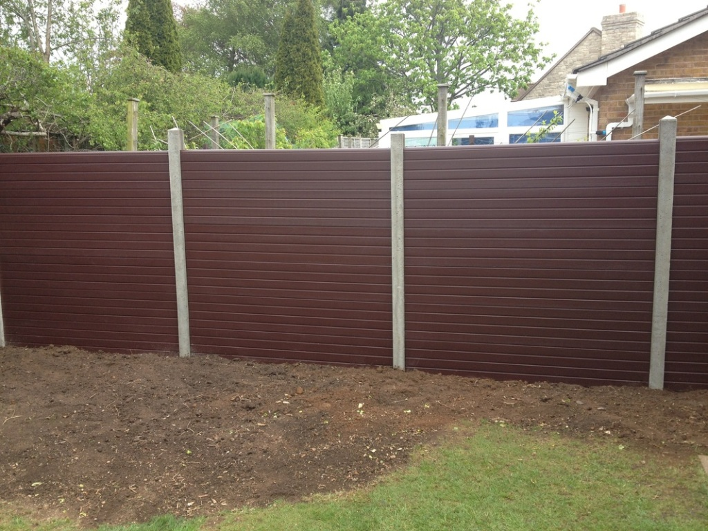 Image of: Modern Composite Fence Panels