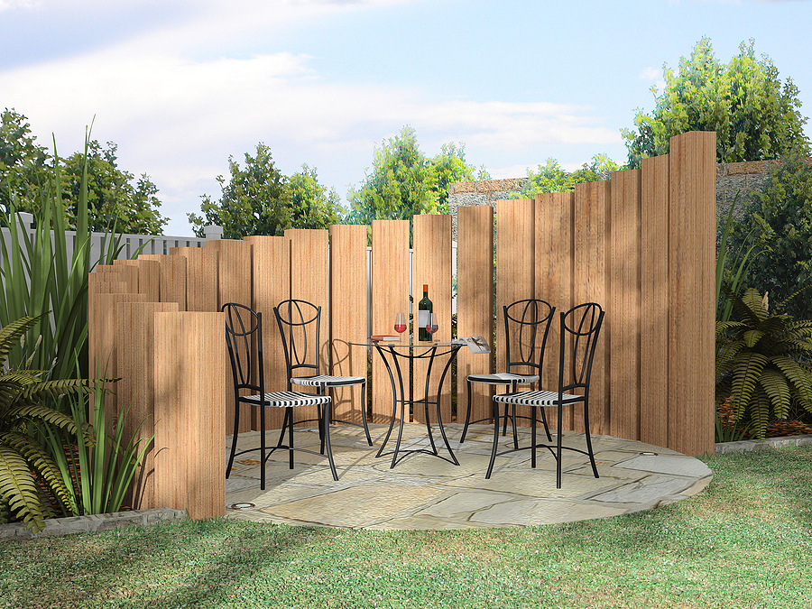 Image of: Modern Privacy Fence Ideas