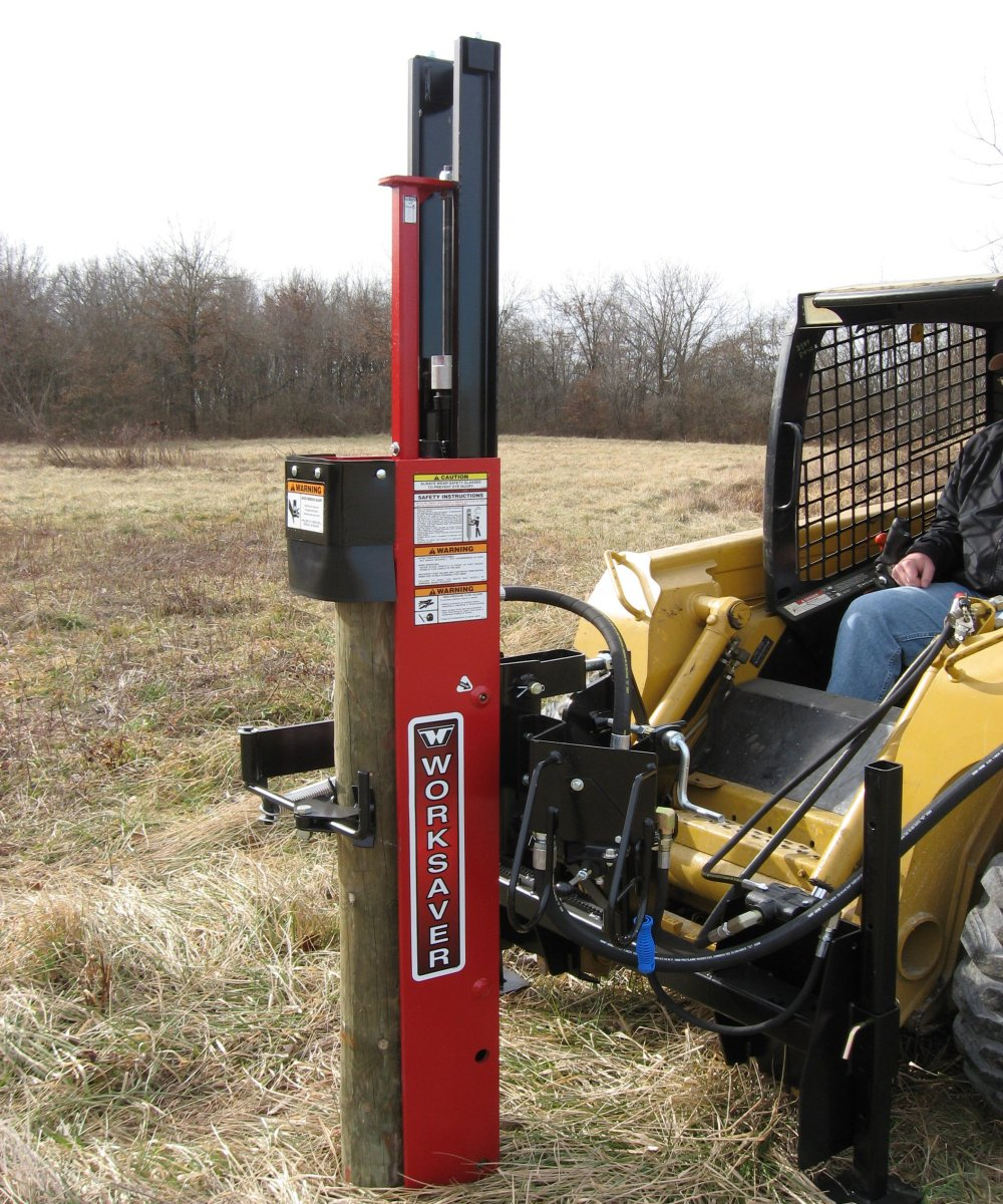 Image of: Mounted Fence Post Driver