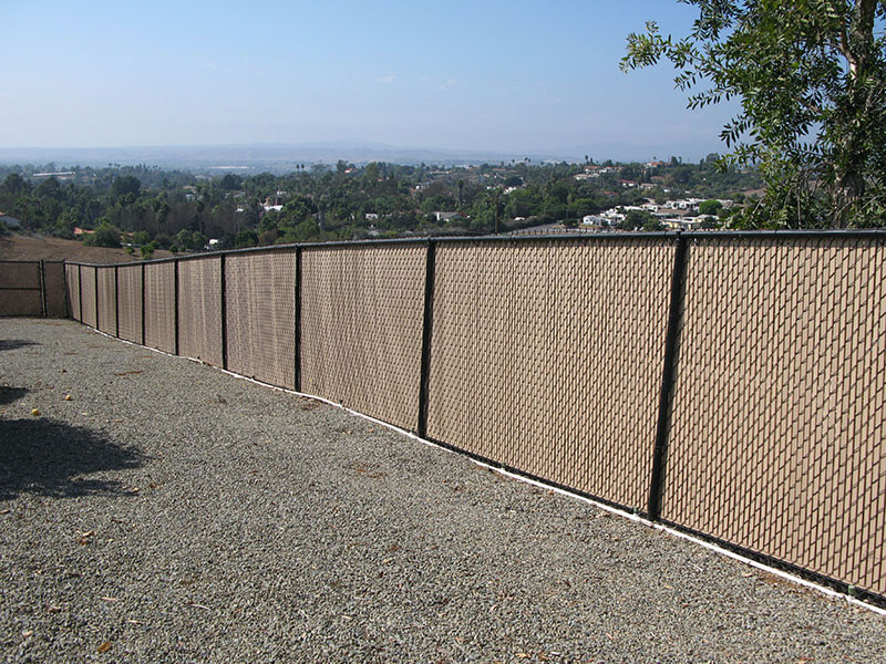 Image of: New Chain Link Fence Slats